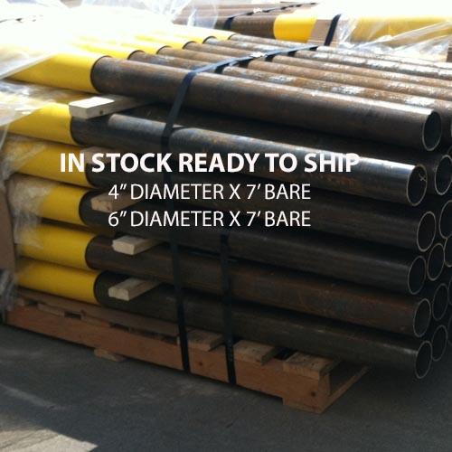 Steel Pipe Bollards ready to ship