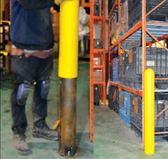 Add a Bollard Cover to your Base Plate Hidden Bollard to improve visibility and appearance