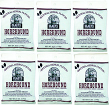 6 Packs Claeys Horehound Sanded Drops Free Shipping
