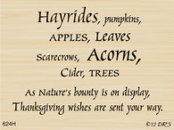 Hayrides Harvest Greeting - 624H