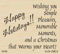 Simple Pleasures Christmas Greeting - 725G