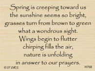 Spring Is Creeping Verse - 759H
