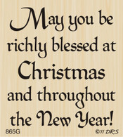Richly Blessed Christmas Greeting - 865G