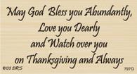 Abundance at Thanksgiving Greeting - 797G