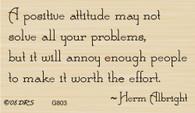 Positive Attitude Greeting - 803G