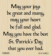 Great Joys Irish Greeting