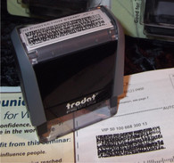 ID Protection Block Out Stamp