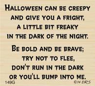 Bump Into Me Halloween Greeting - 149G