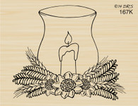 Sunflower Hurricane Candle - 167K