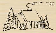 Christmas Village Cabin - 212G
