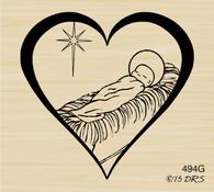 Baby Jesus Heart - 494G