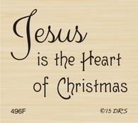 Jesus is the Heart of Christmas Greeting - 496F