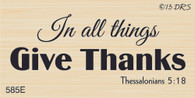 Give Thanks Bible Verse - 585E