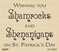 Shamrocks & Shenanigans Greeting - 692F