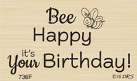 Bee Happy Birthday Greeting - 736F