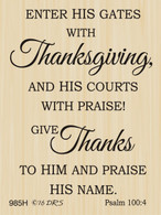 Psalm 100 Thanksgiving Greeting - 985H