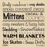 Winter Wonder Words Greeting - 1099H