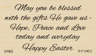 Blessed With Gifts Easter Greeting - 079G