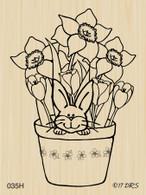 Sneaky Bunny Flower Pot - 035H