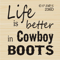 Better in Cowboy Boots Greeting - 236D