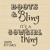 Boots & Bling Cowgirl Greeting - 237D