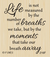 Life Is Measured Greeting - 216F
