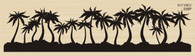 Silhouette Palm Tree Line - 228P