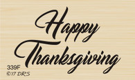 Script Happy Thanksgiving Greeting - 339F