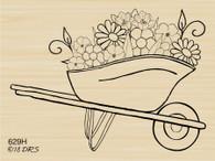 Flower Wheelbarrow - 629H
