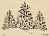 Triple Tree with Snow - 004L