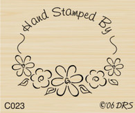 Flower Oval Recognition Stamp - 023C