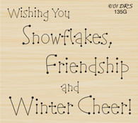 Snowflakes and Winter Cheer Greeting - 135G