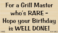 Grill Master Birthday Greeting - 145G