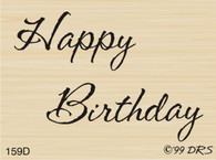 Small Script Happy Birthday - 159D