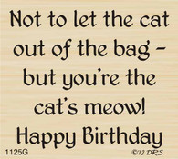 Cat's Meow Birthday Greeting - 1125G