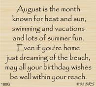 August Birthday Greeting - 180G