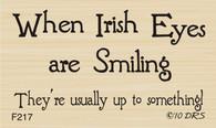 Smiling Irish Eyes Greeting - 217F
