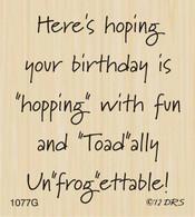 unFROGettable Birthday Greeting - 1077G