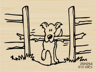 Doggie Dilemma Dog with Fence - 254H