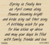 April Birthday Greeting - 1043G