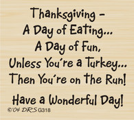Turkey on the Run Greeting - 318G