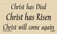 Christ Has Died Risen Greeting - 432F