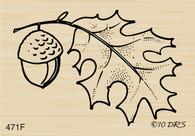 Fall Leaf with Acorn - 471F