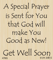 Get Well Prayer - 476G