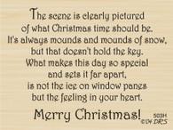 Christmas Scene Greeting - 503H