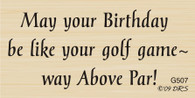 Above Par Birthday Greeting - 507G