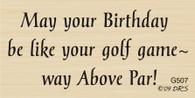 Above Par Birthday Greeting - 507G