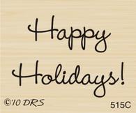 Small Happy Holidays Greeting - 515C