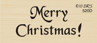 Small Merry Christmas Greeting - 520D