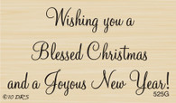 Blessed Christmas Greeting - 525G